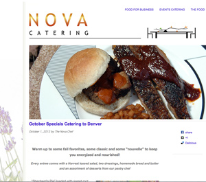 Fall logo created for Nova Denver Catering and Events is used as the header for this website built in 2012. The logos are easily changed by the clients and each has graphics of color-coordinated graphics that also change with the season. Logo design by Steuart Bremner, web design and Wordpress by Terry Talty, Limitless Idea Project