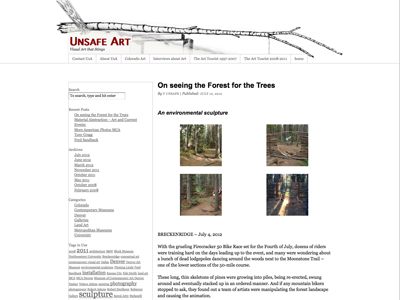 UnsafeArt, a contemporary visual art blog is now built on a custom Wordpress child theme of the Thematic family