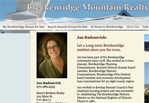 Breck Mountain Realty About page, designed by Limitless Idea Project