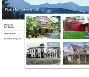 Limitless Idea Project, Web Design Layout Examples for Peak One Enterprises, home page